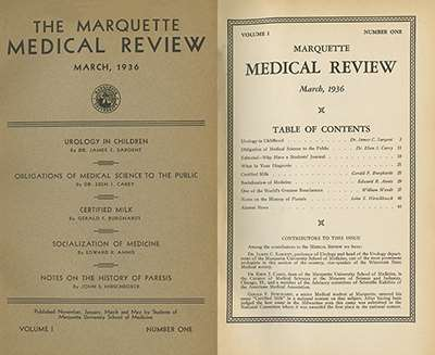 Marquette Medical Review, 1936