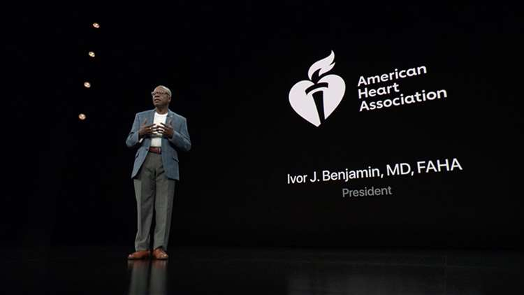 Dr. Ivor Benjamin at Apple product launch on Sept. 12