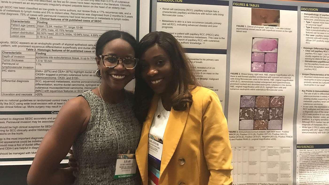Drs. Leah Cardwell and Olayemi Sokumbi at the ASDP 56th Annual Meeting