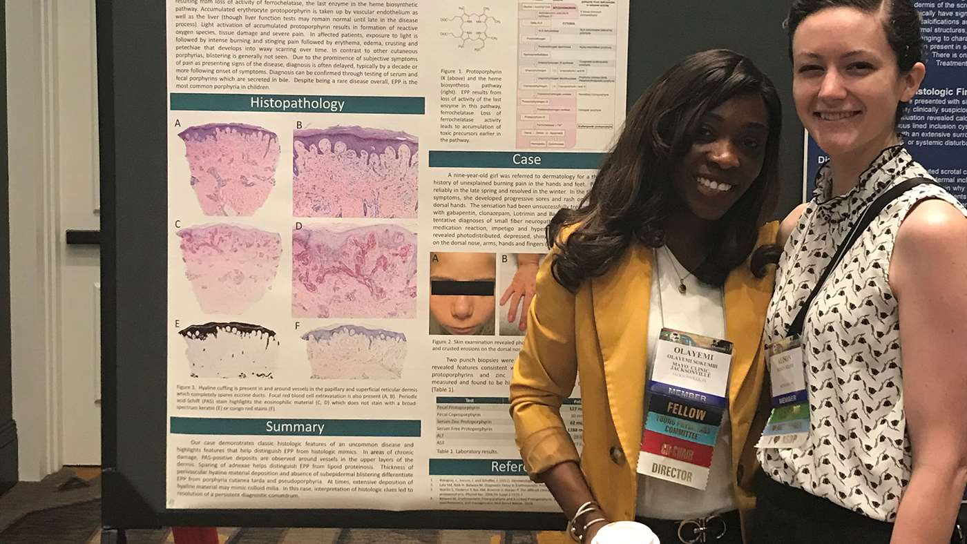 Drs. Alison Seline and Olayemi Sokumbi at the ASDP 56th Annual Meeting