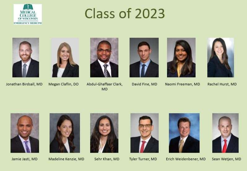 Emergency Medicine Class of 2023 Residents