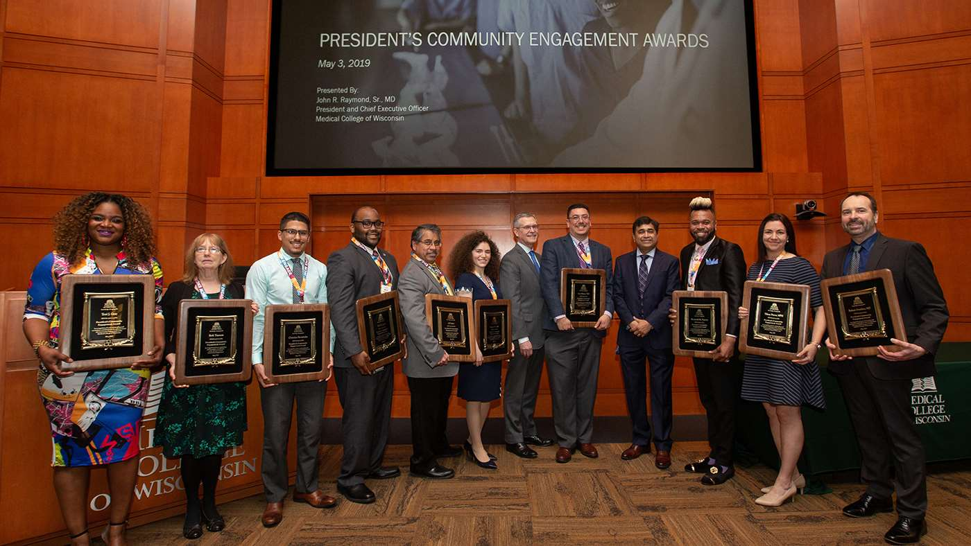 2019 Presidents Community Engagement Award winners