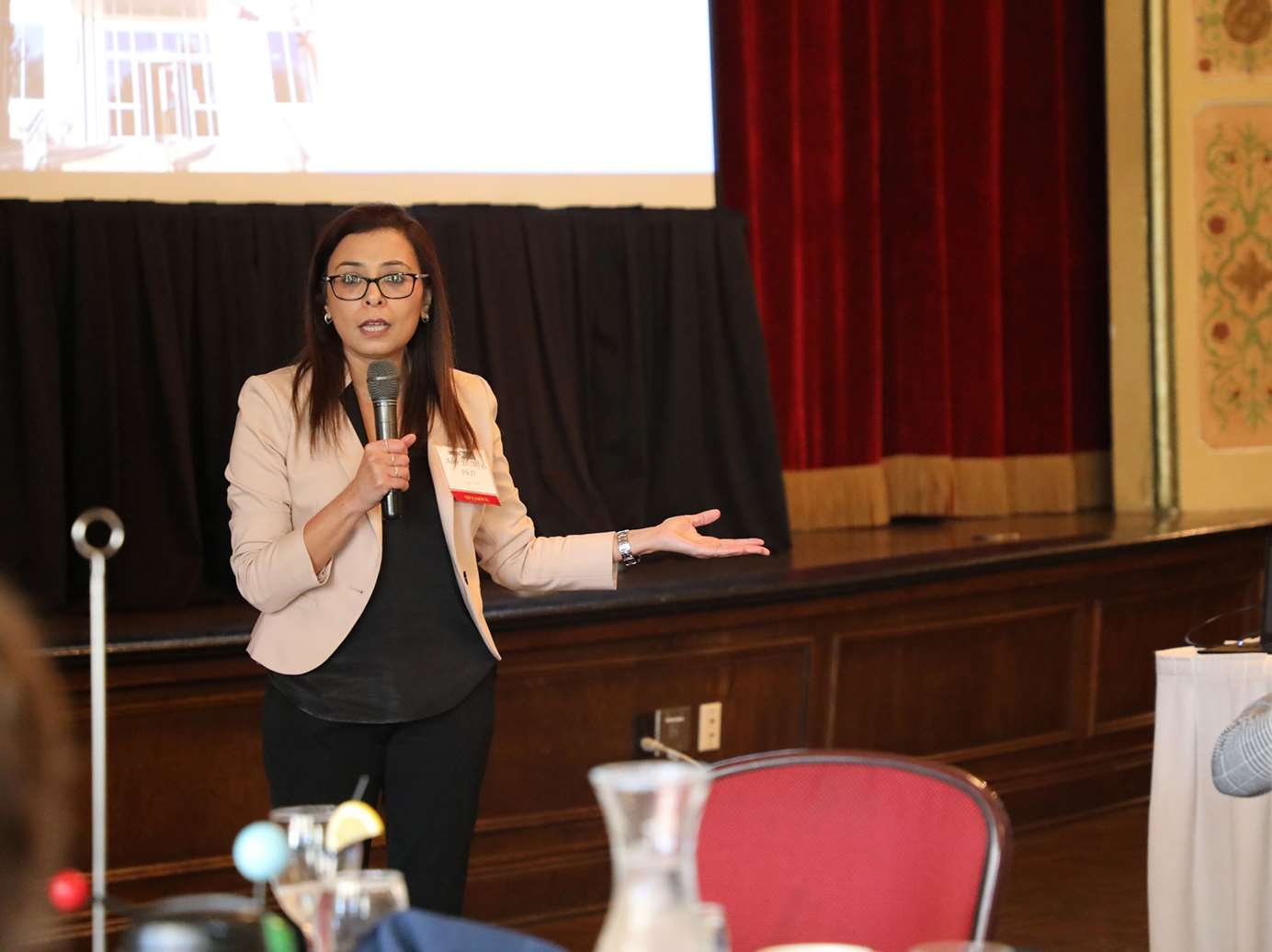 Abir T. El-Alfy, PhD, MS, speaks about addiction at MCW Women in Science presentation