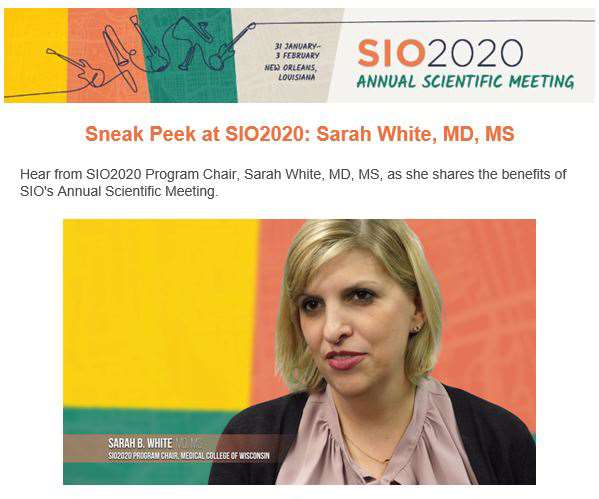 Dr. Sarah White featured in SIO video