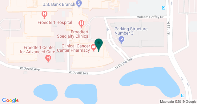 map of clinics' locations
