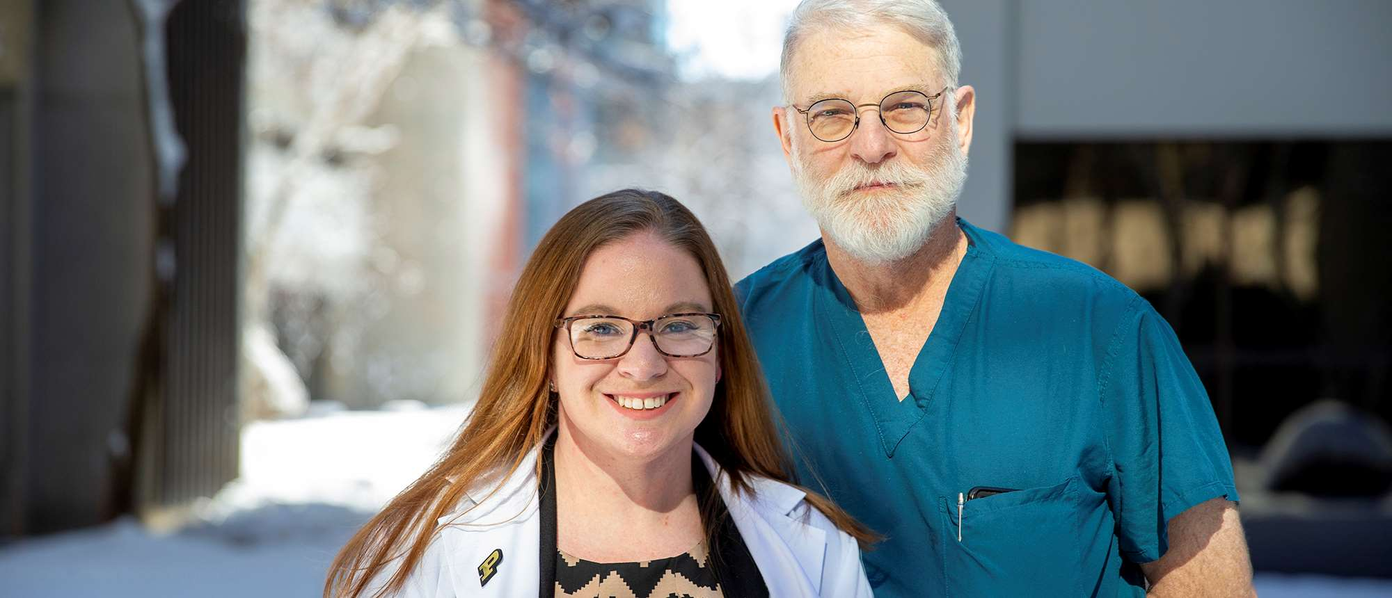 Holly Maize, second year MCW pharmacy student with Dr. Bruce A. Kaufman, MCW pediatric neurosurgeon