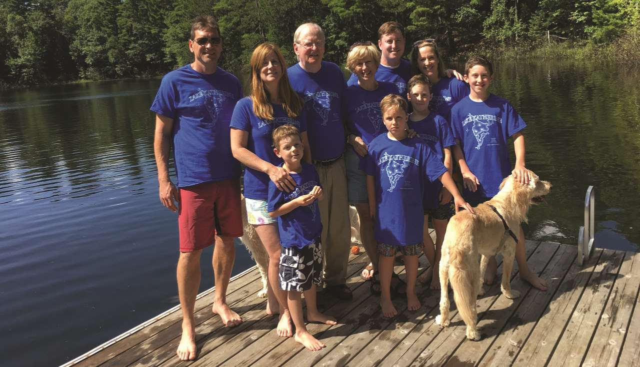 Mike Bolger and family at Camp Bolger, Minocqua, WIsconsin