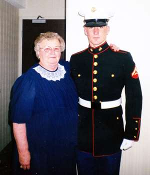 Dr. Burek with his grandmother