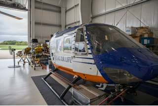 Flight For Life training helicopter in Waukesha