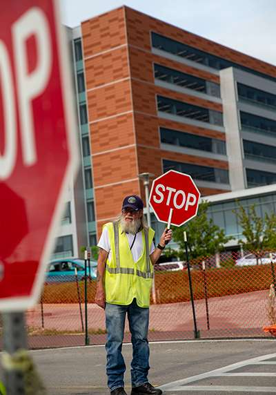 John Kummer, crossing guard at MCW-Milwaukee campus