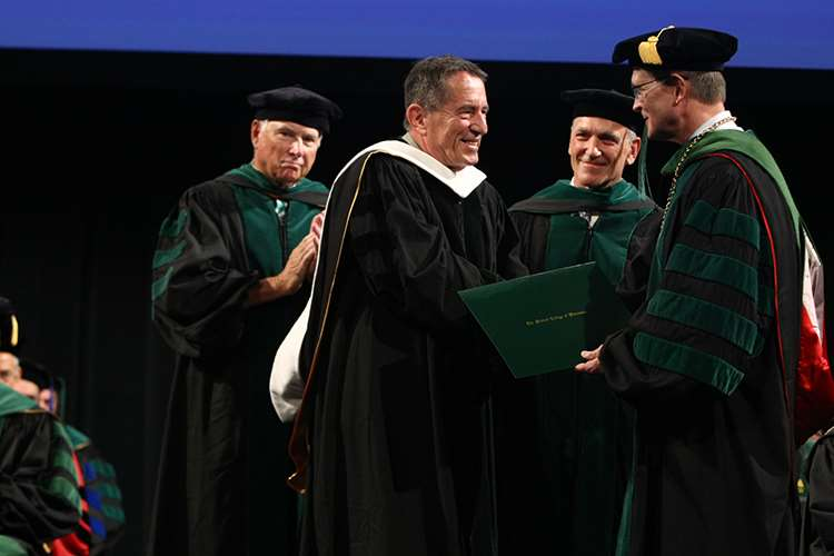 Michael Orban receiving honorary degree at 2018 MCW Commencement