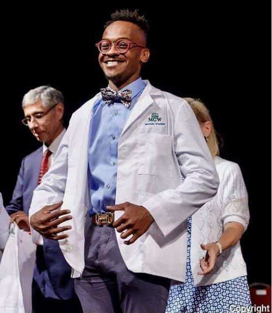 Quamaine Bond White Coat Ceremony