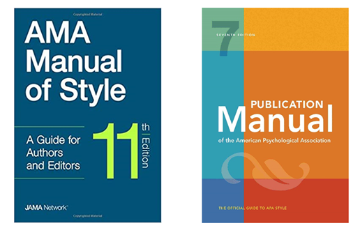 AMA Manual of Style, APA Publication Manual covers