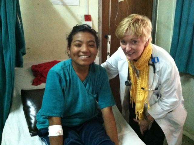 Dr Cohan in Nepal
