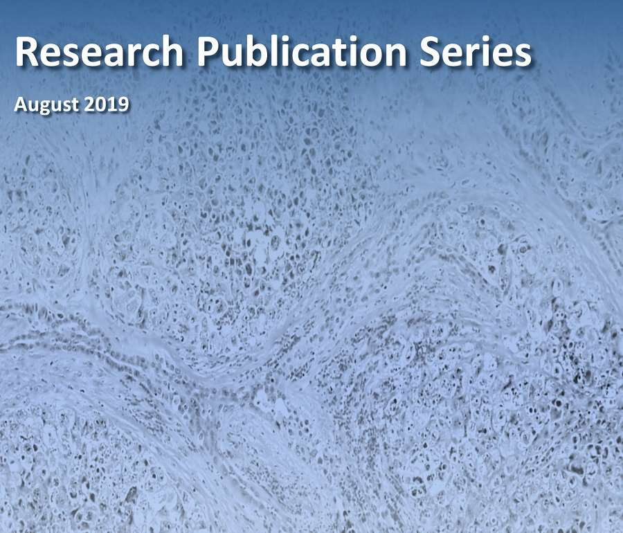 Research Publication Series August 2019 Cover Image