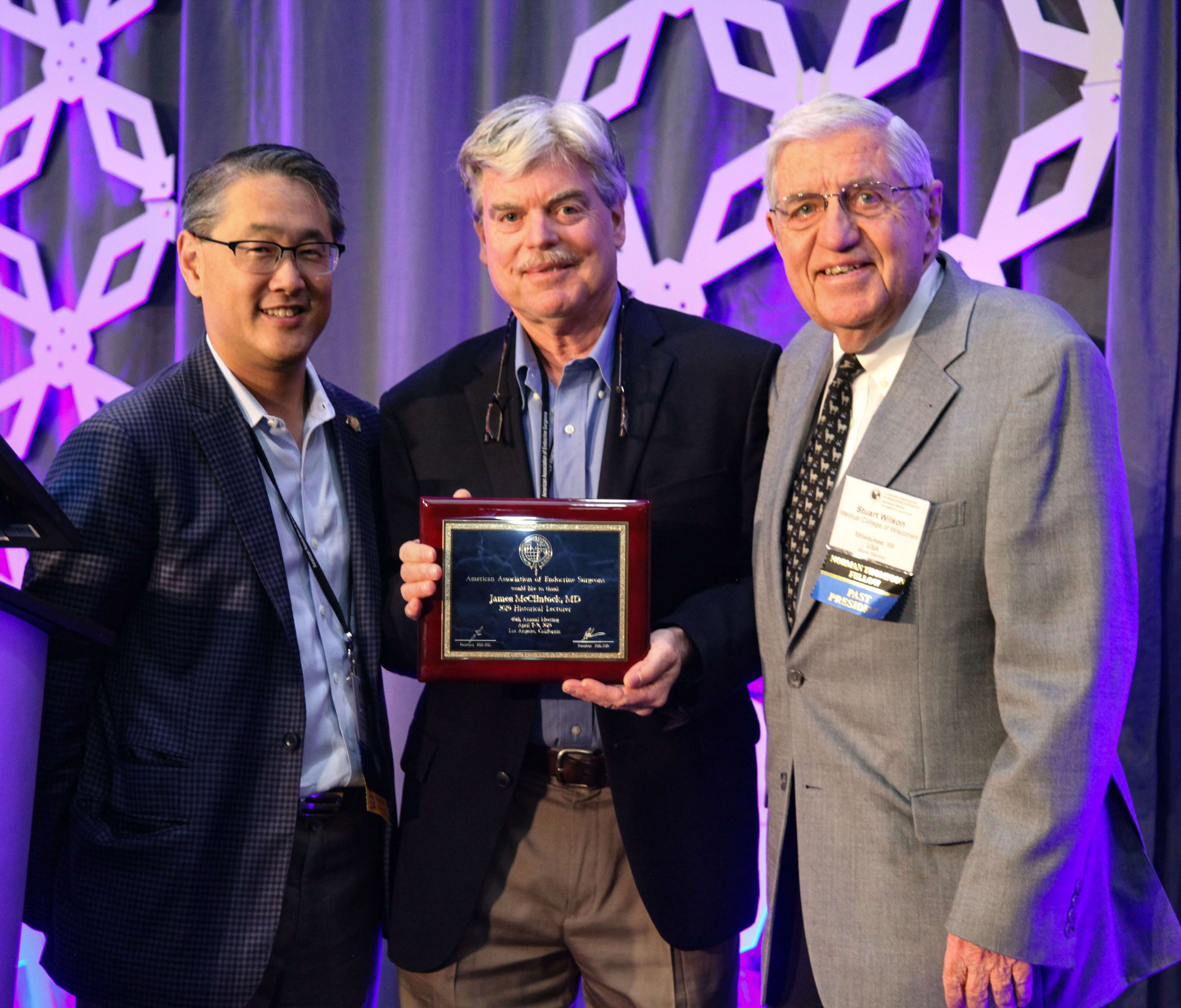 Drs. Chen, McClintock and Wilson at 2019 AAES Conference