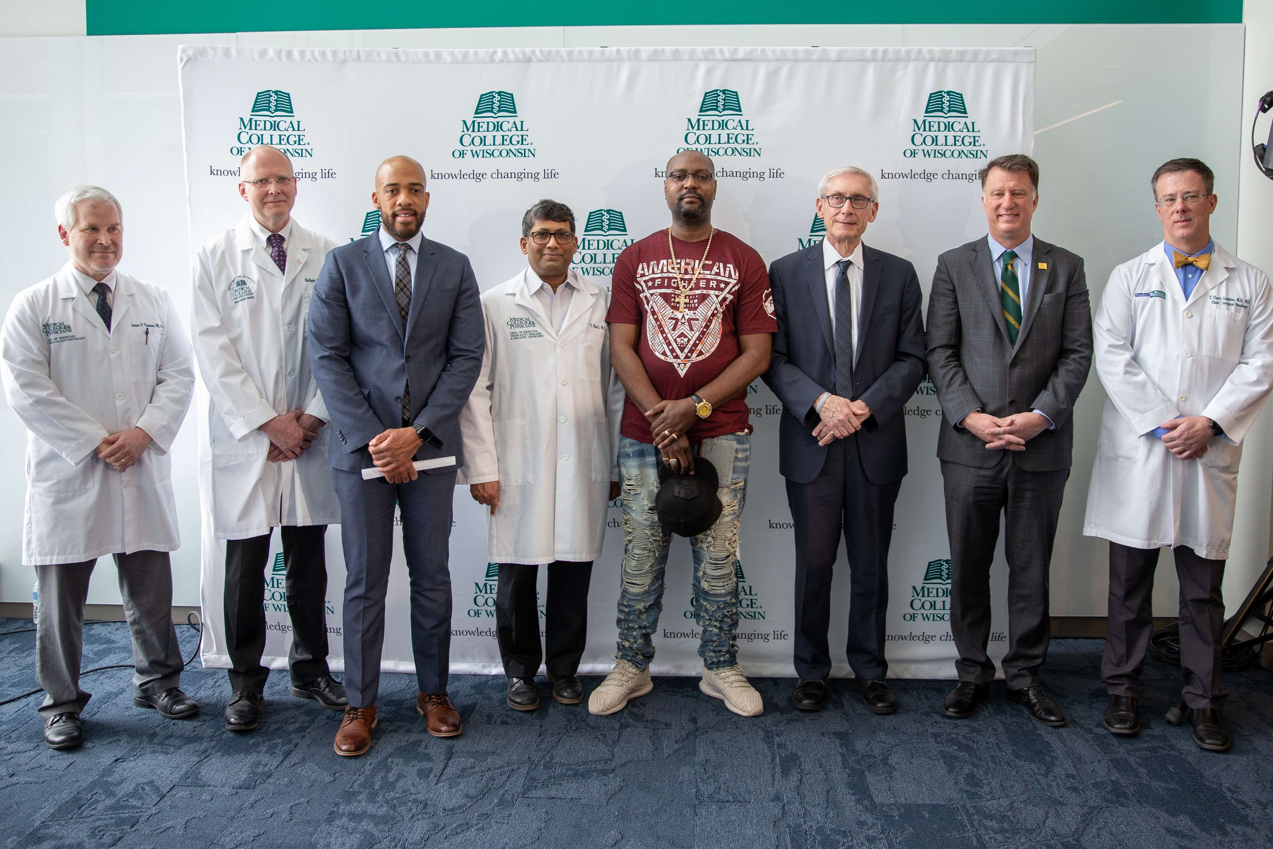 Governor Evers Cancer Center Press Conference Image
