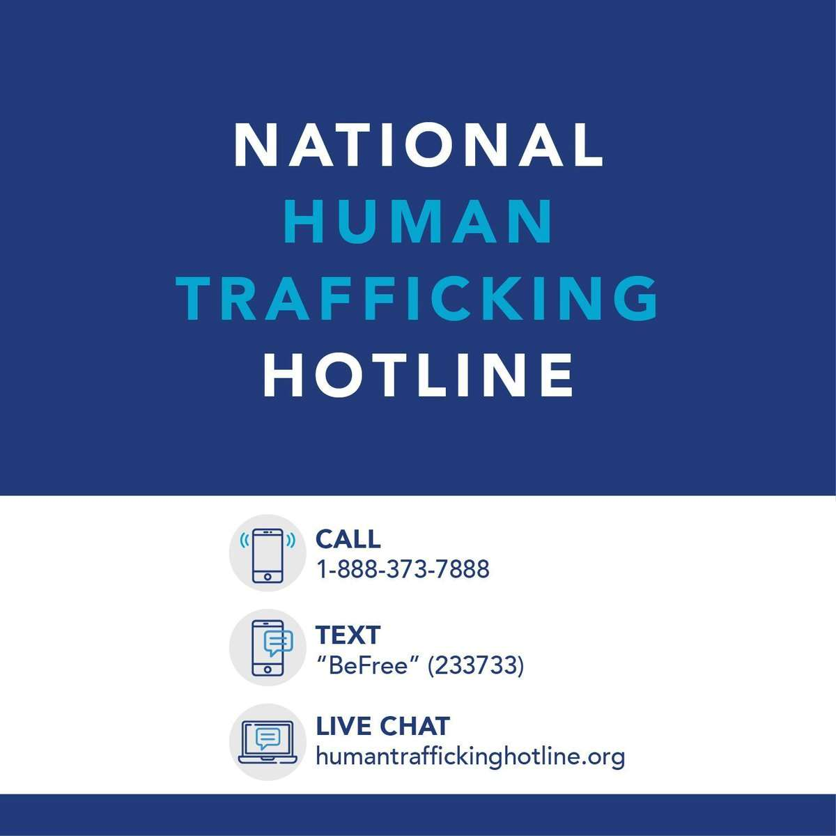 Natl Human Trafficking Hotline contact info